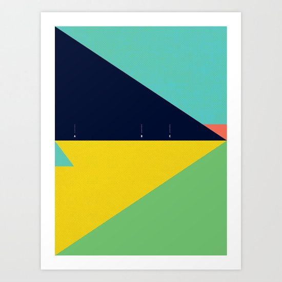Secret Surf Map (Low Tide) — Matthew Korbel-Bowers Art Print