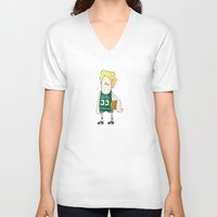 larry V-neck T-shirts featuring Larry Bird by frappeboy