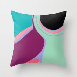 Pop Drained Throw Pillow