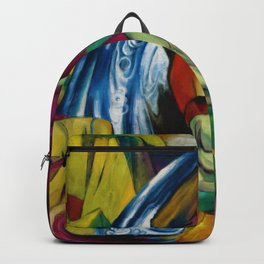 Der Wasserfall - The Waterfall by Franz Marc Backpack