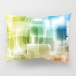 Contemporary Sparkle Blue, Green, Orange, Squares Pillow Sham