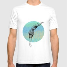 Swimmer ~ The Summer Series Mens Fitted Tee SMALL White