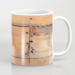 Wooden ship board with nails and screws Coffee Mug