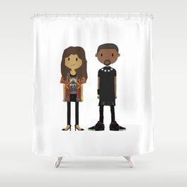 Kimye Shower Curtain