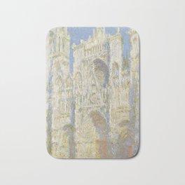 Claude Monet Rouen Cathedral, West Façade, Sunlight 1894 Bath Mat