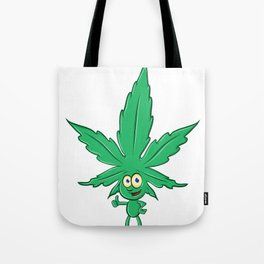fun marijuana cartoon Tote Bag