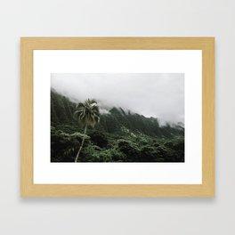 Cloudy Hawaii (1) Framed Art Print