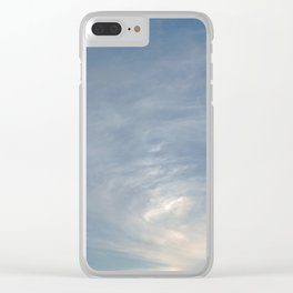 Blue & Silver sky Clear iPhone Case