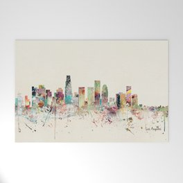 los angeles skyline Welcome Mat