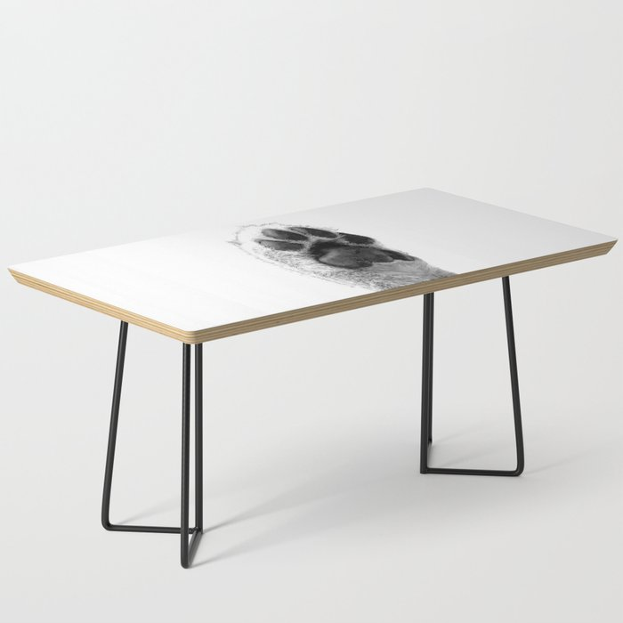 Black and White Dog Paw Coffee Table