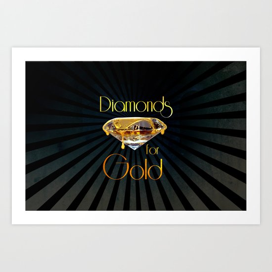 Diamonds for Gold Minimal Art Print