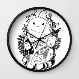 GoldenFish  and cat Wall Clock