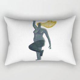 Young Woman Rectangular Pillow