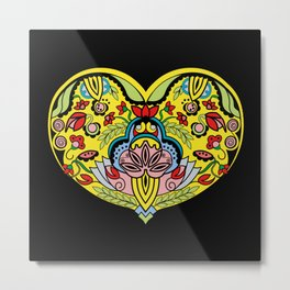 Enchanted   Heart Metal Print