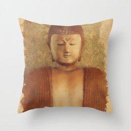 Serene Buddha Throw Pillow