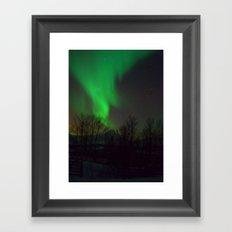 Northern Lights over Norway Framed Art Print