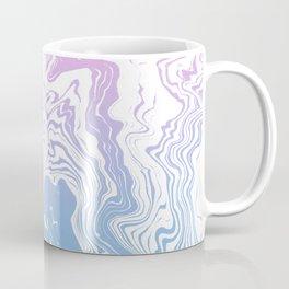 Suminagashi marble pastel pink and blue minimal watercolor spilled ink swirl Coffee Mug