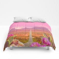 Road landscape Comforters