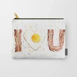 Bacon and Egg Love Valentines Day Heart Carry-All Pouch