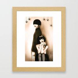 The Dahlia Twins Framed Art Print