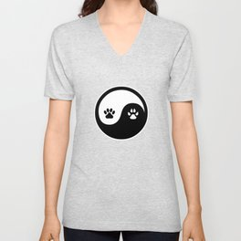 Animal Paws Yin Yang Dog Paw Cat Paw Unisex V-Neck
