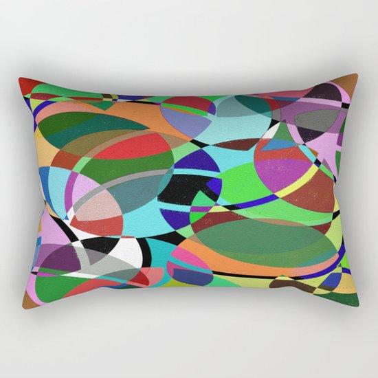 Pastel Pieces II - Abstract, textured, pastel, arcs and circles design Rectangular Pillow