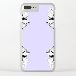 Purple Glitch Scrunch Quad Clear iPhone Case