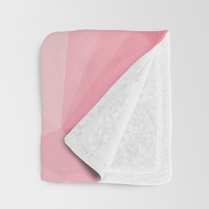 pink and grey polygon 2018 Throw Blanket