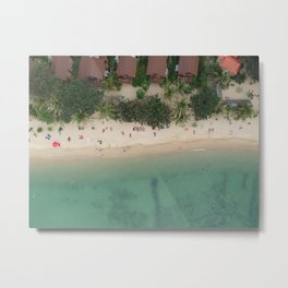 Aerial Secret Beach Koh Phangan Thailand Metal Print