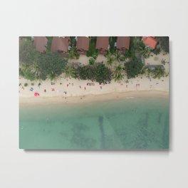 Aerial Secret Beach Koh Phangan Thailand Metal Print