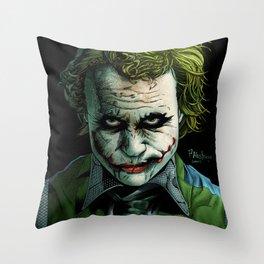 Heath Ledger Joker Throw Pillow