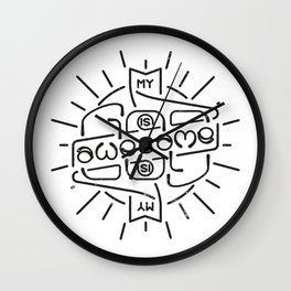 God is Awesome Ambigram Wall Clock