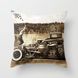 The Pixeleye - Special Edition Hot Rod Series I  Throw Pillow