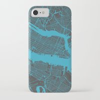 new york map iPhone & iPod Cases featuring new york map by Map Map Maps