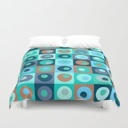 Circles and Squares Pattern 3 Duvet Cover