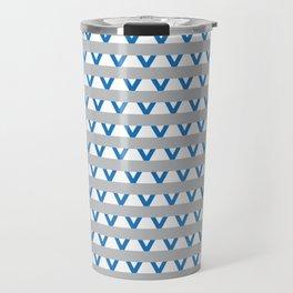Paranoia (Grey and Turquoise) Travel Mug