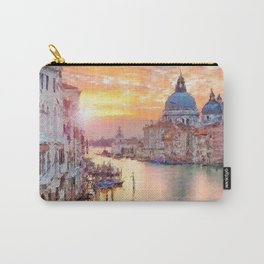 Venice, Italy Grand Canal Sunset landscape painting Carry-All Pouch