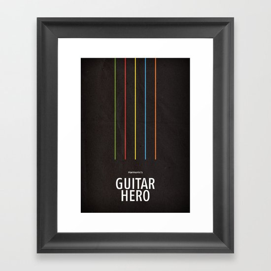 Harmonix's Guitar Hero Framed Art Print