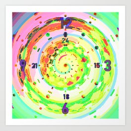 Clock-face-pattern-abstract Art Print