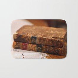 Antique Books Bath Mat