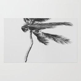 Grey Palm Tree Rug