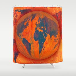 World on fire - 218 Shower Curtain