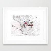 battlefield Framed Art Prints featuring Battlefield II by Ale Santos