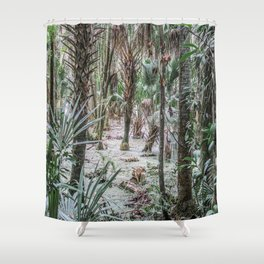 Palm Trees in the Green Swamp Shower Curtain