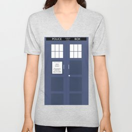 Smaller On The Outside Tardis Unisex V-Neck