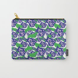 Blue Purple and Green Rough Abstract Dark Eye Carry-All Pouch