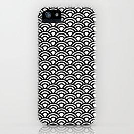 Nippon Wave Japanese Black Seigaiha iPhone Case