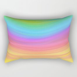Layers of Colors Rectangular Pillow