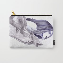 Call Of The Wolves Carry-All Pouch
