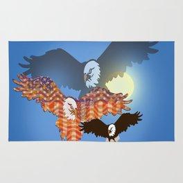 American Eagles Tribute Blue Rug